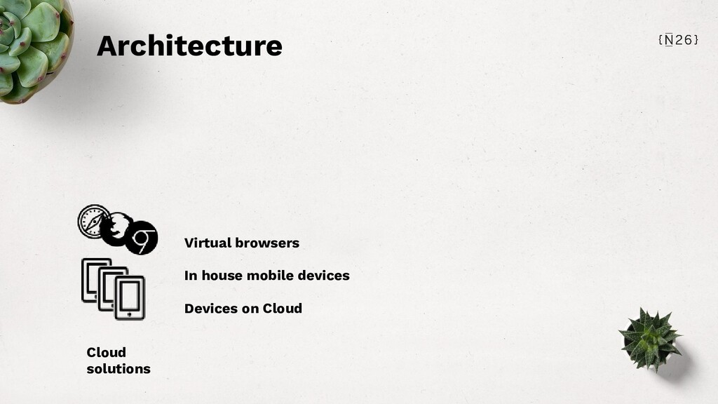 Architecture Cloud solutions Virtual browsers I...