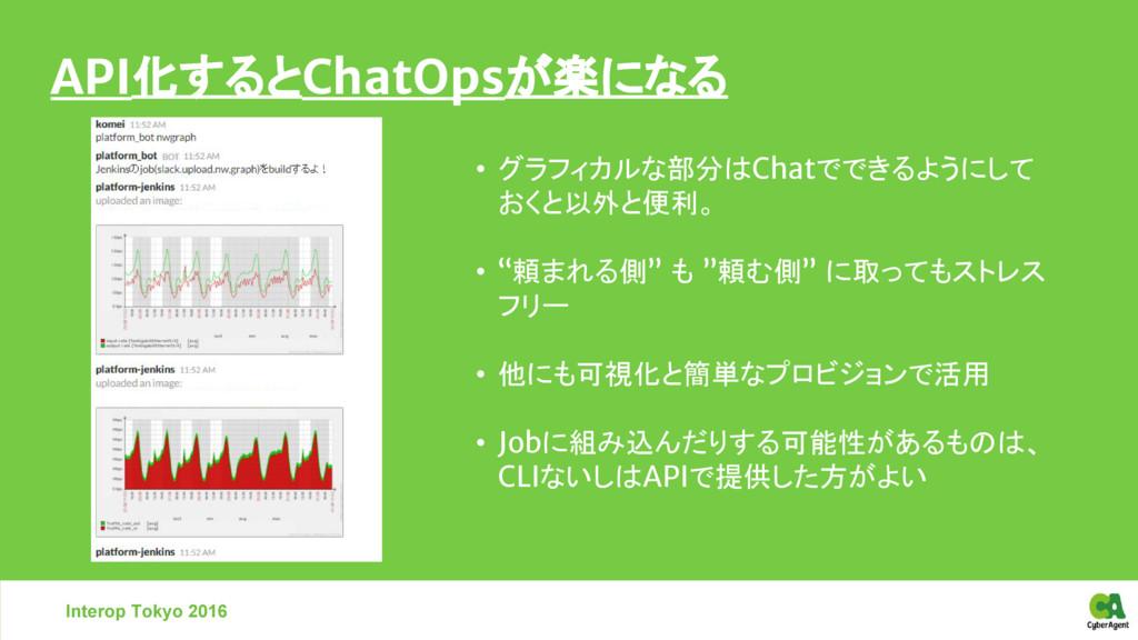 Interop Tokyo 2016 • グラフィカルな部分はChatでできるようにして おく...
