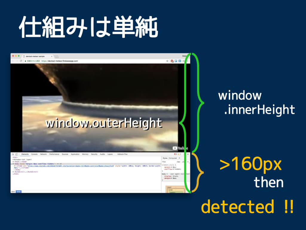 window.outerHeight window .innerHeight 仕組みは単純 >...