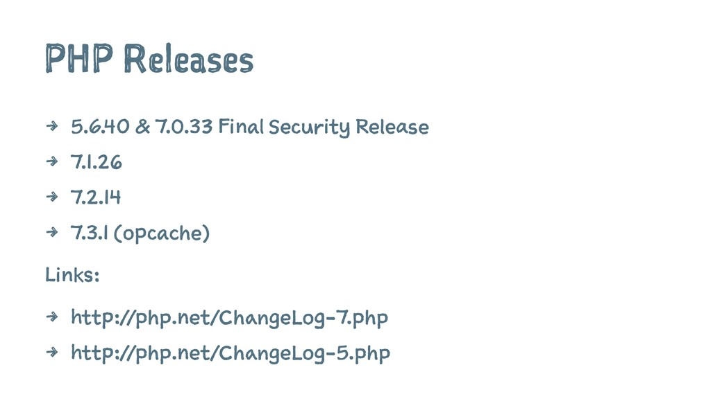 PHP Releases 4 5.6.40 & 7.0.33 Final Security R...