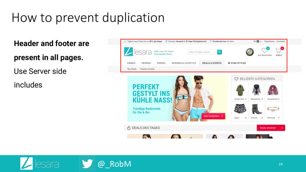 @_RobM How to prevent duplication 24 Header and...