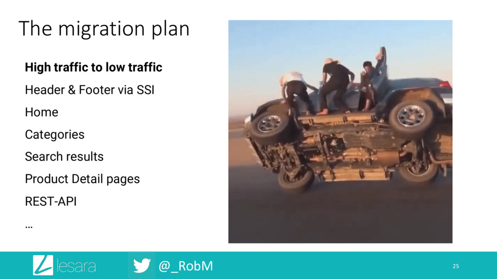 @_RobM The migration plan 25 High traffic to lo...