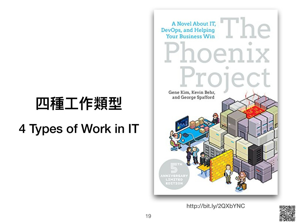 四種⼯工作類型 4 Types of Work in IT http://bit.ly/2QX...