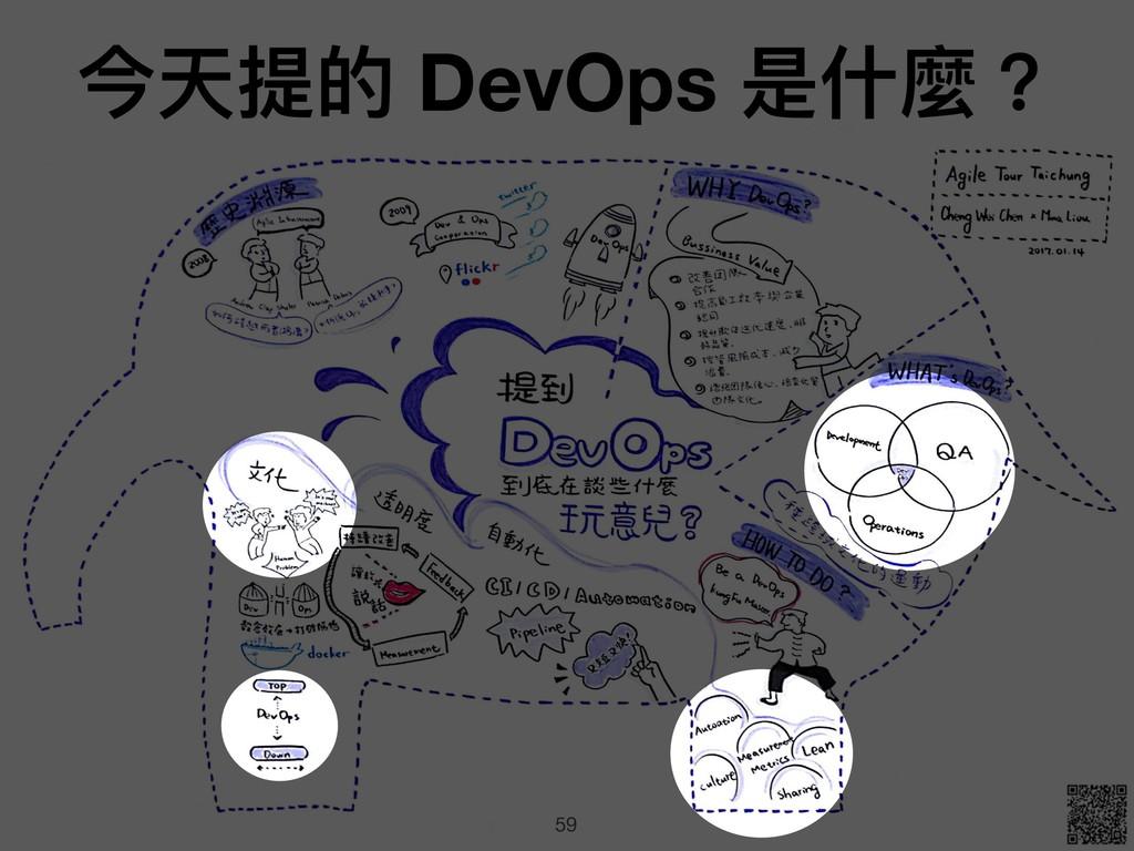 59 今天提的 DevOps 是什什麼?
