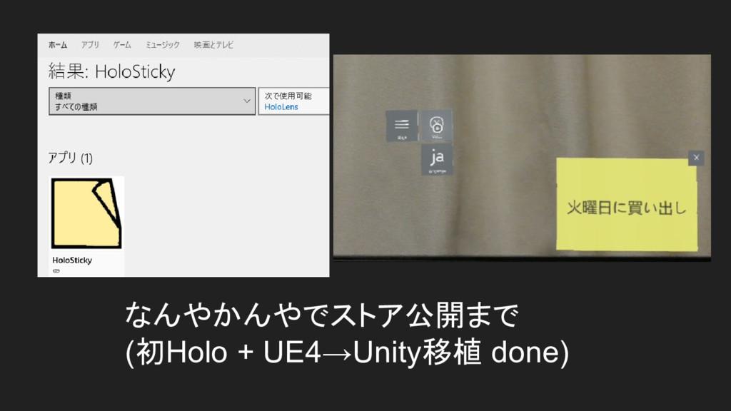 なんやかんやでストア公開まで (初Holo + UE4→Unity移植 done)