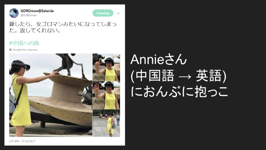 Annieさん (中国語 → 英語) におんぶに抱っこ