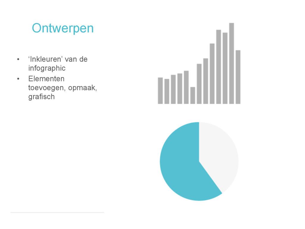 Ontwerpen • 'Inkleuren' van de infographic • El...