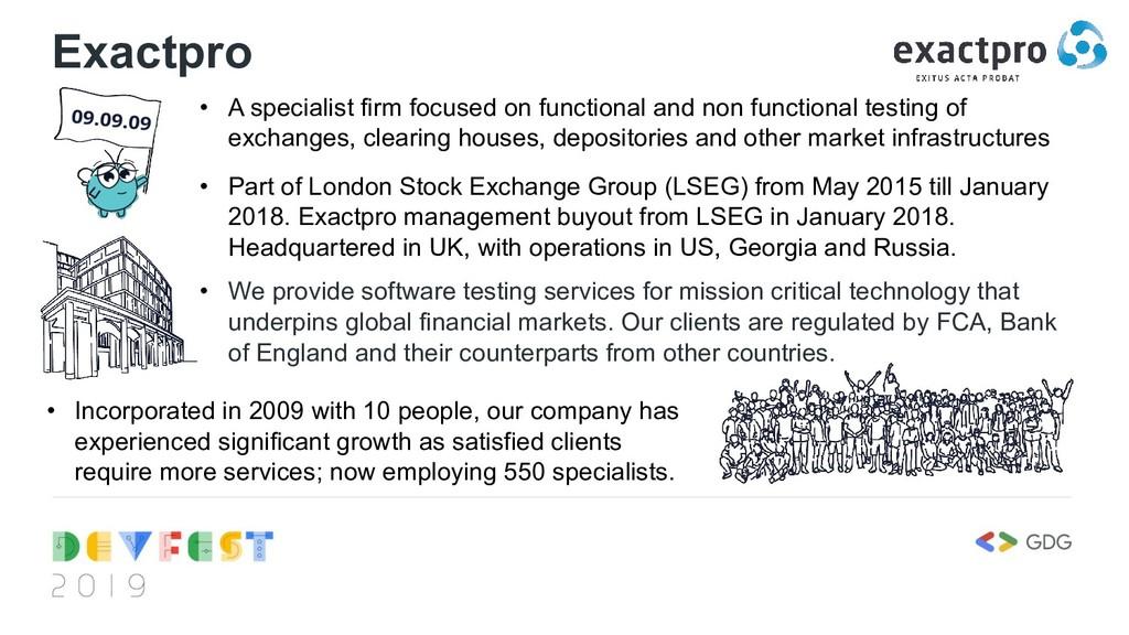 Exactpro • A specialist firm focused on functio...