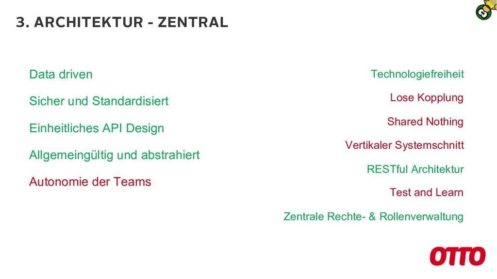 3. ARCHITEKTUR - ZENTRAL Data driven Sicher und...