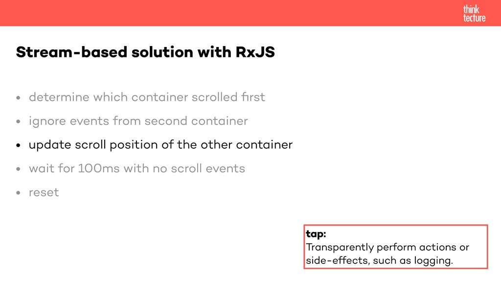 • determine which container scrolled fi rst   •...