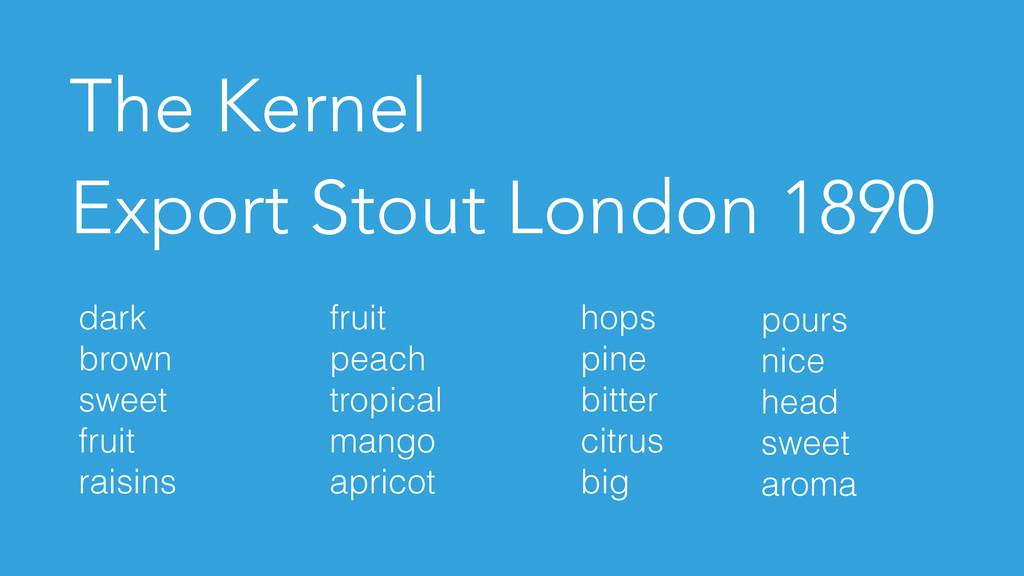 The Kernel Export Stout London 1890 dark brown ...