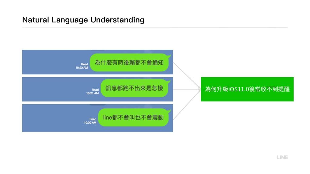 Natural Language Understanding 為何升級iOS11.0後常收不到...