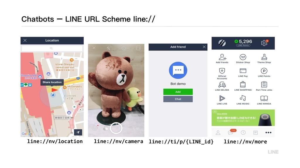 Chatbots – LINE URL Scheme line:// line://nv/lo...