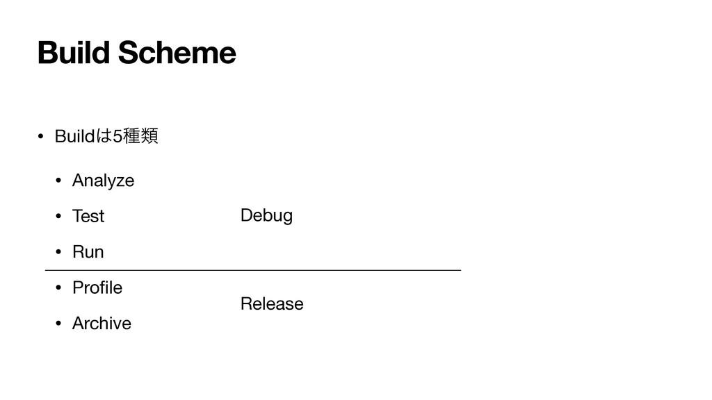 Build Scheme • Build5छྨ  • Analyze  • Test  • ...