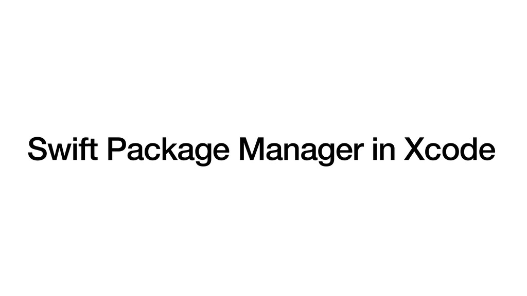 Swift Package Manager in Xcode