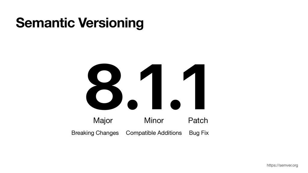 8.1.1 Patch Minor Semantic Versioning Major Bug...