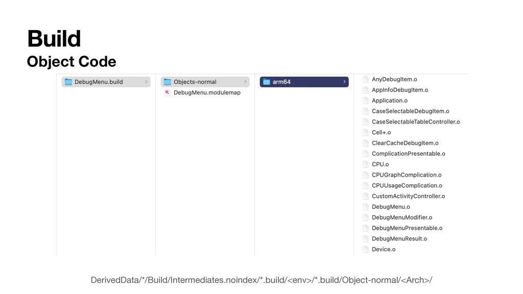 Build Object Code DerivedData/*/Build/Intermedi...