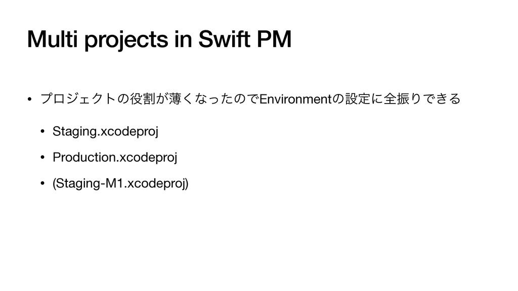 Multi projects in Swift PM • ϓϩδΣΫτͷׂ͕ബ͘ͳͬͨͷͰE...