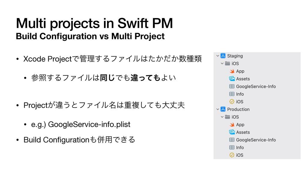 Multi projects in Swift PM Build Con fi guratio...