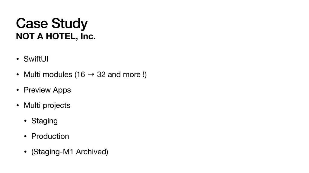 NOT A HOTEL, Inc. • SwiftUI  • Multi modules (1...