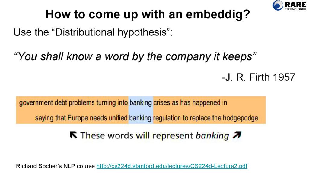 "Use the ""Distributional hypothesis"": ""You shall..."