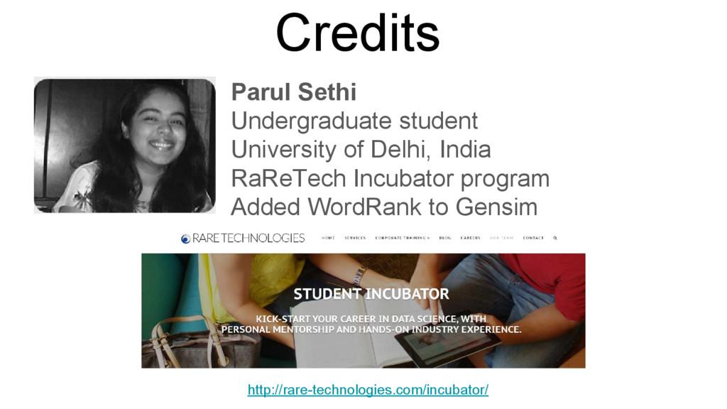 Credits Parul Sethi Undergraduate student Unive...