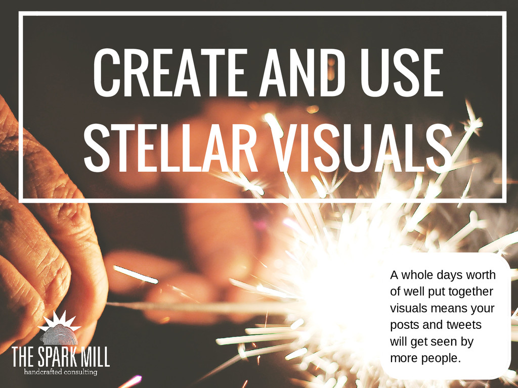 CREATE AND USE STELLAR VISUALS A whole days wor...