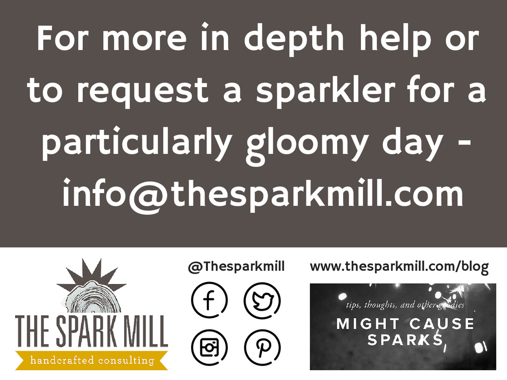 @Thesparkmill www.thesparkmill.com/blog For mor...