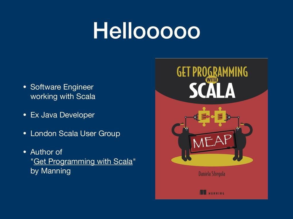 Hellooooo • Software Engineer  working with Sc...