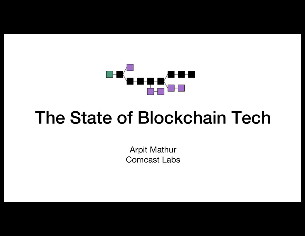 The State of Blockchain Tech Arpit Mathur Comca...