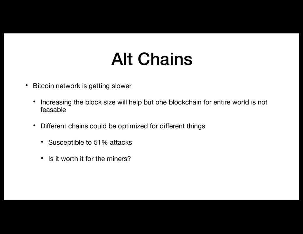 Alt Chains • Bitcoin network is getting slower ...