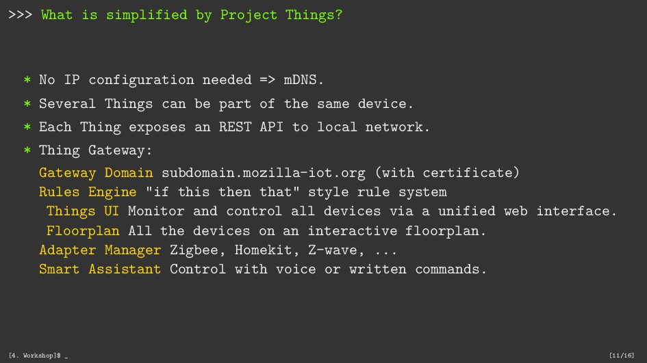 >>> What is simplified by Project Things? * No ...