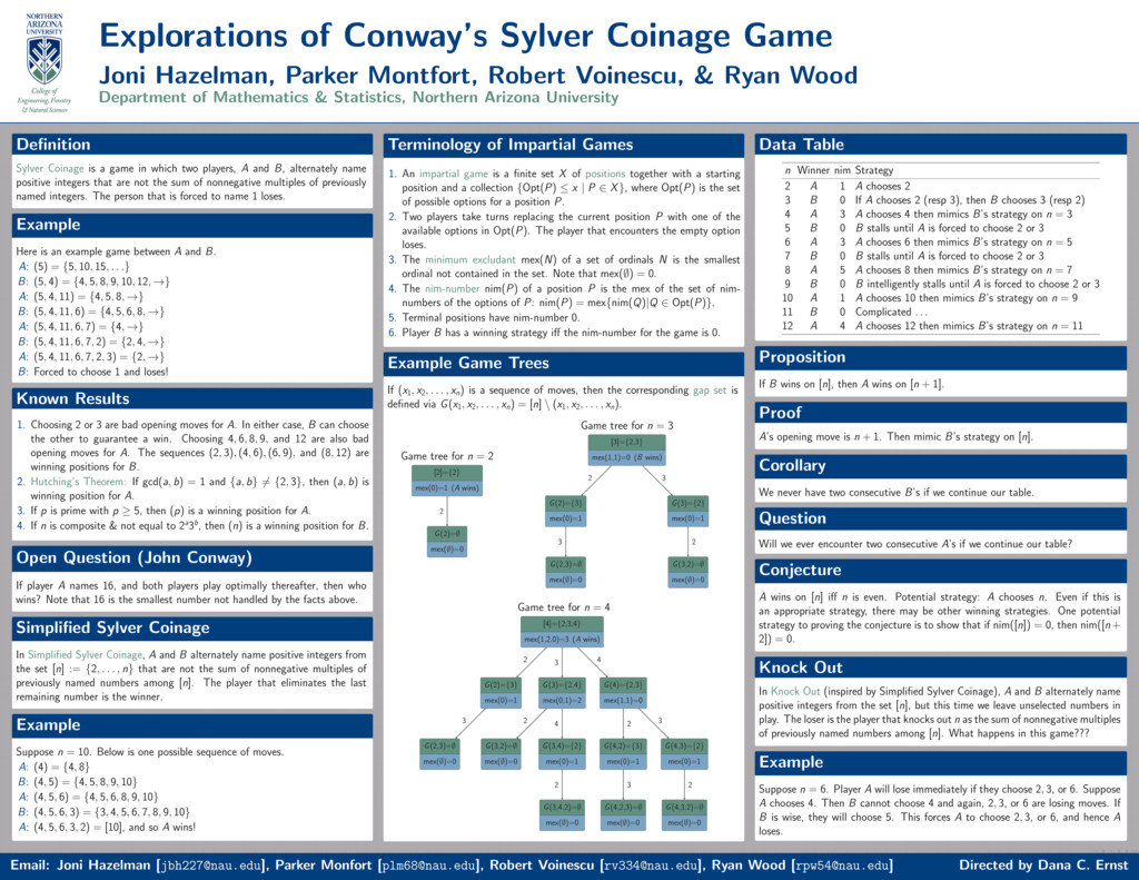 Explorations of Conway's Sylver Coinage Game Jo...