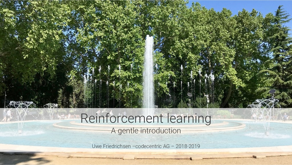 Reinforcement learning A gentle introduction Uw...