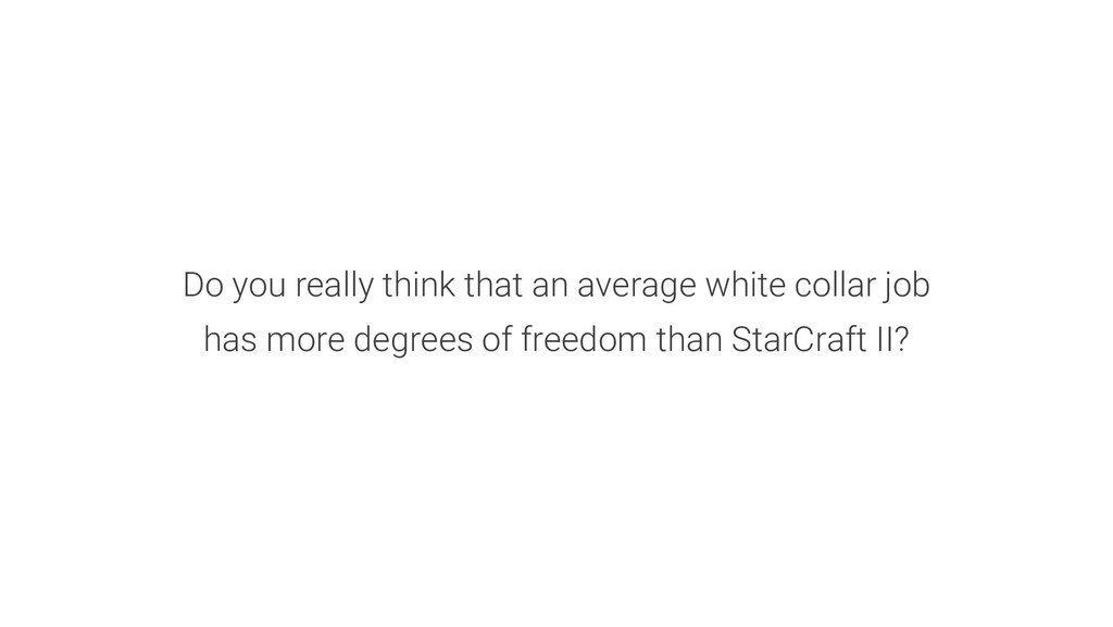 Do you really think that an average white colla...