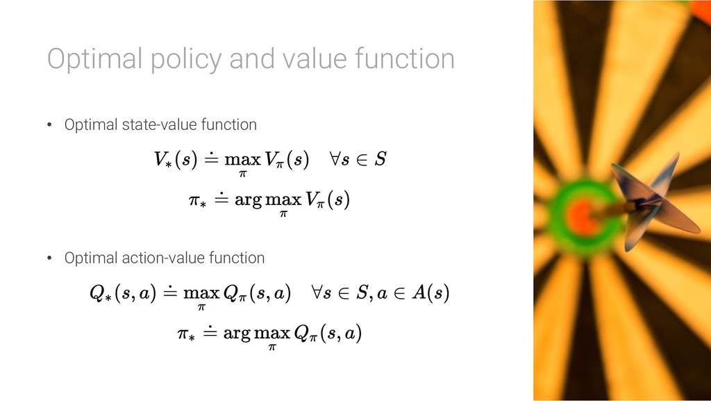 Optimal policy and value function • Optimal sta...