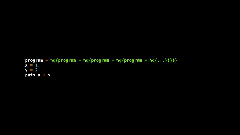 program = %q{program = %q{program = %q{program ...