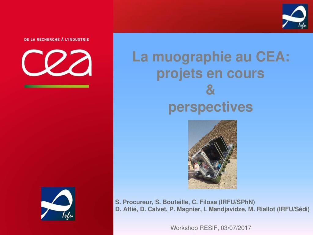 La muographie au CEA: projets en cours & perspe...