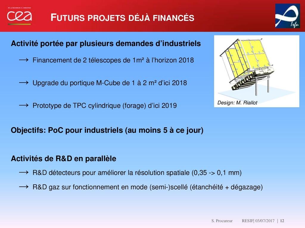 FUTURS PROJETS DÉJÀ FINANCÉS   12 Activité port...