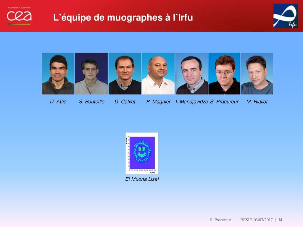   14 D. Attié S. Bouteille D. Calvet P. Magnier...