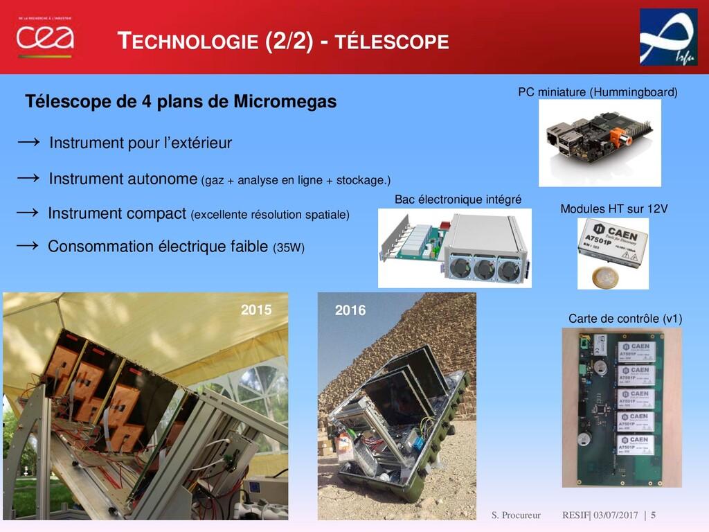 TECHNOLOGIE (2/2) - TÉLESCOPE   5 → Instrument ...