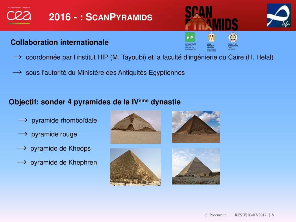 2016 - : SCANPYRAMIDS   8 → coordonnée par l'in...