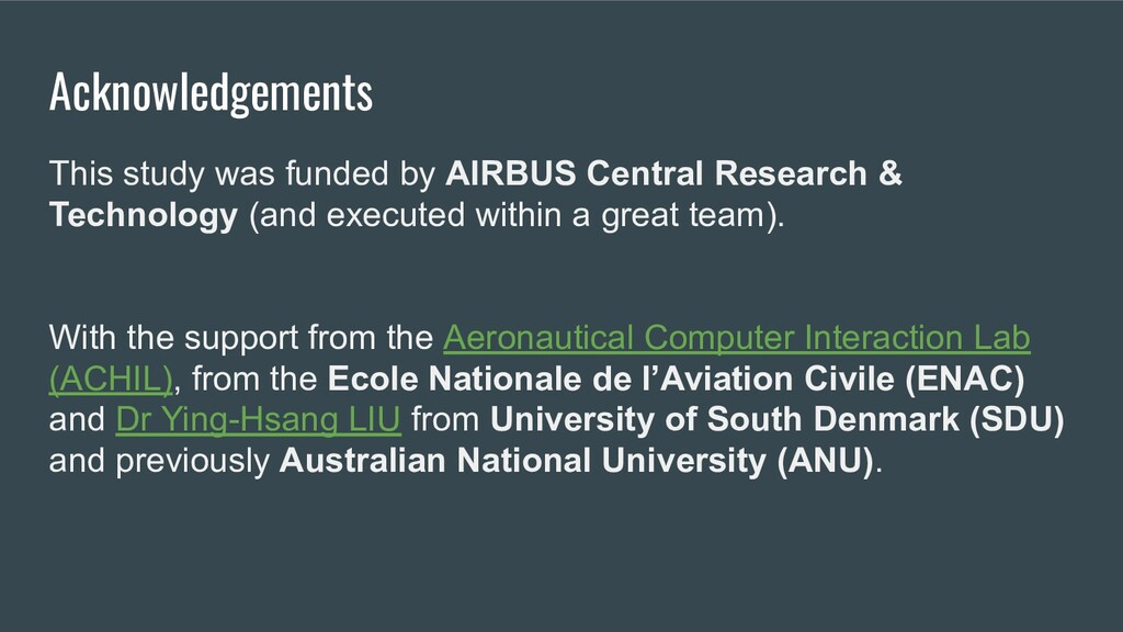 Acknowledgements This study was funded by AIRBU...