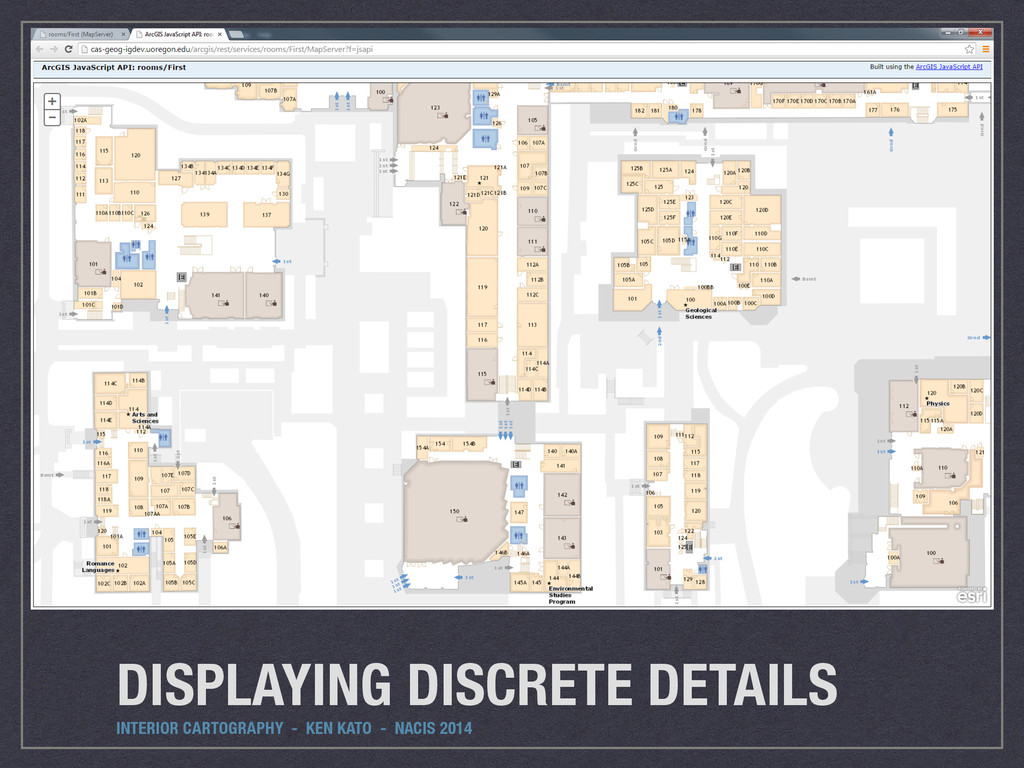 DISPLAYING DISCRETE DETAILS INTERIOR CARTOGRAPH...
