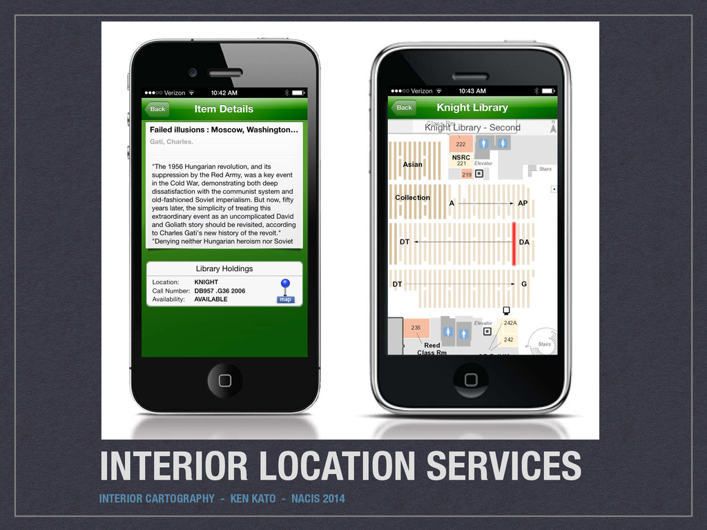 INTERIOR LOCATION SERVICES INTERIOR CARTOGRAPHY...