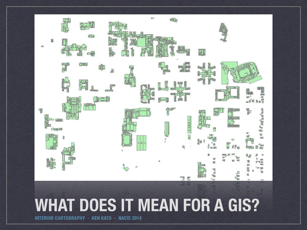 WHAT DOES IT MEAN FOR A GIS? INTERIOR CARTOGRAP...