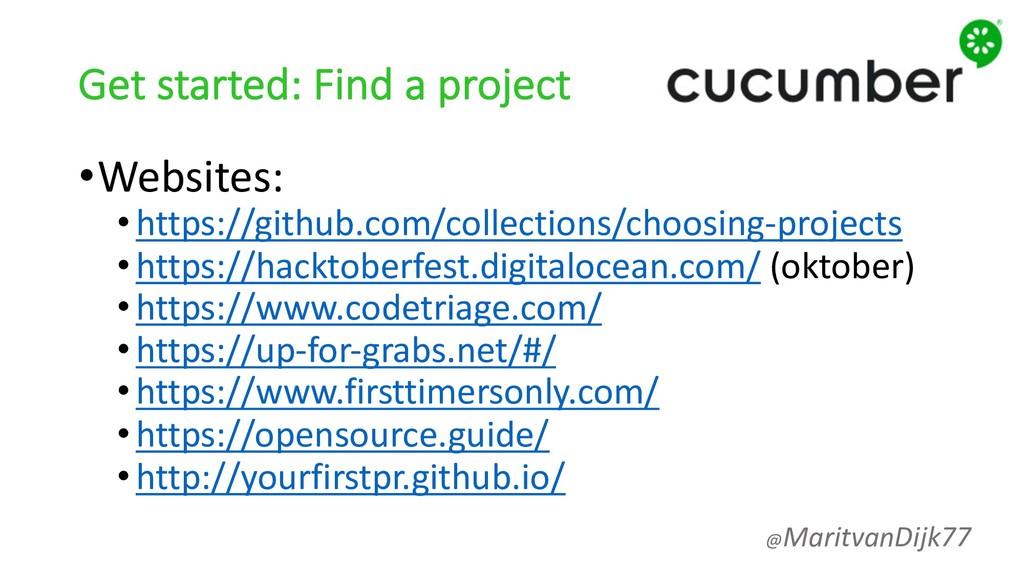 Get started: Find a project •Websites: •https:/...
