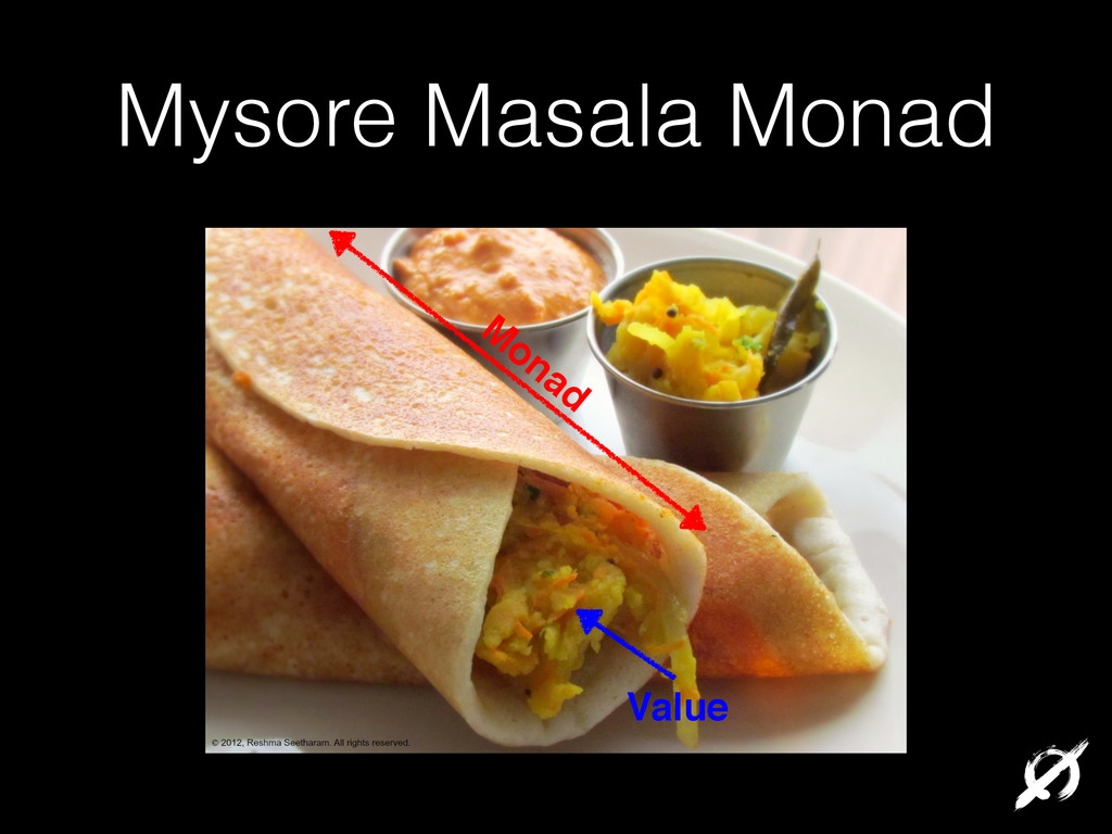Mysore Masala Monad M onad Value