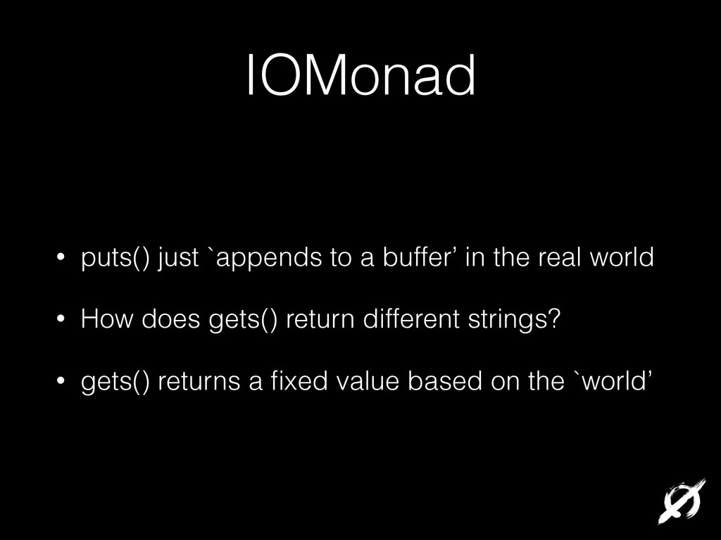 IOMonad • puts() just `appends to a buffer' in ...
