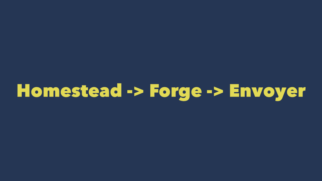 Homestead -> Forge -> Envoyer